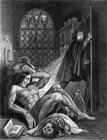 Frontispiece to 1831 edition of Frankenstein_1831[1]
