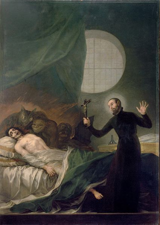 425px-St._Francis_Borgia_Helping_a_Dying_Impenitent_by_Goya[1]